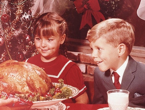 Serving a large meal during the holidays is an old-time tradition.