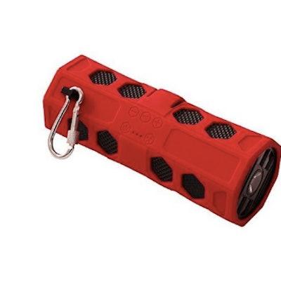 Aqua Sound 192100 Portable Wireless Waterproof Bluetooth Speaker - Red