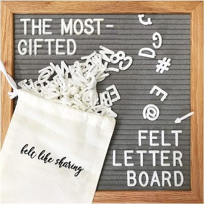 Felt Like Sharing Gray Felt Letter Board