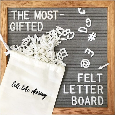 Felt Like Sharing Gray Felt Letter Board