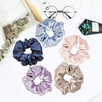 Mommesilk Silk Hair Scrunchies (5-Pack)