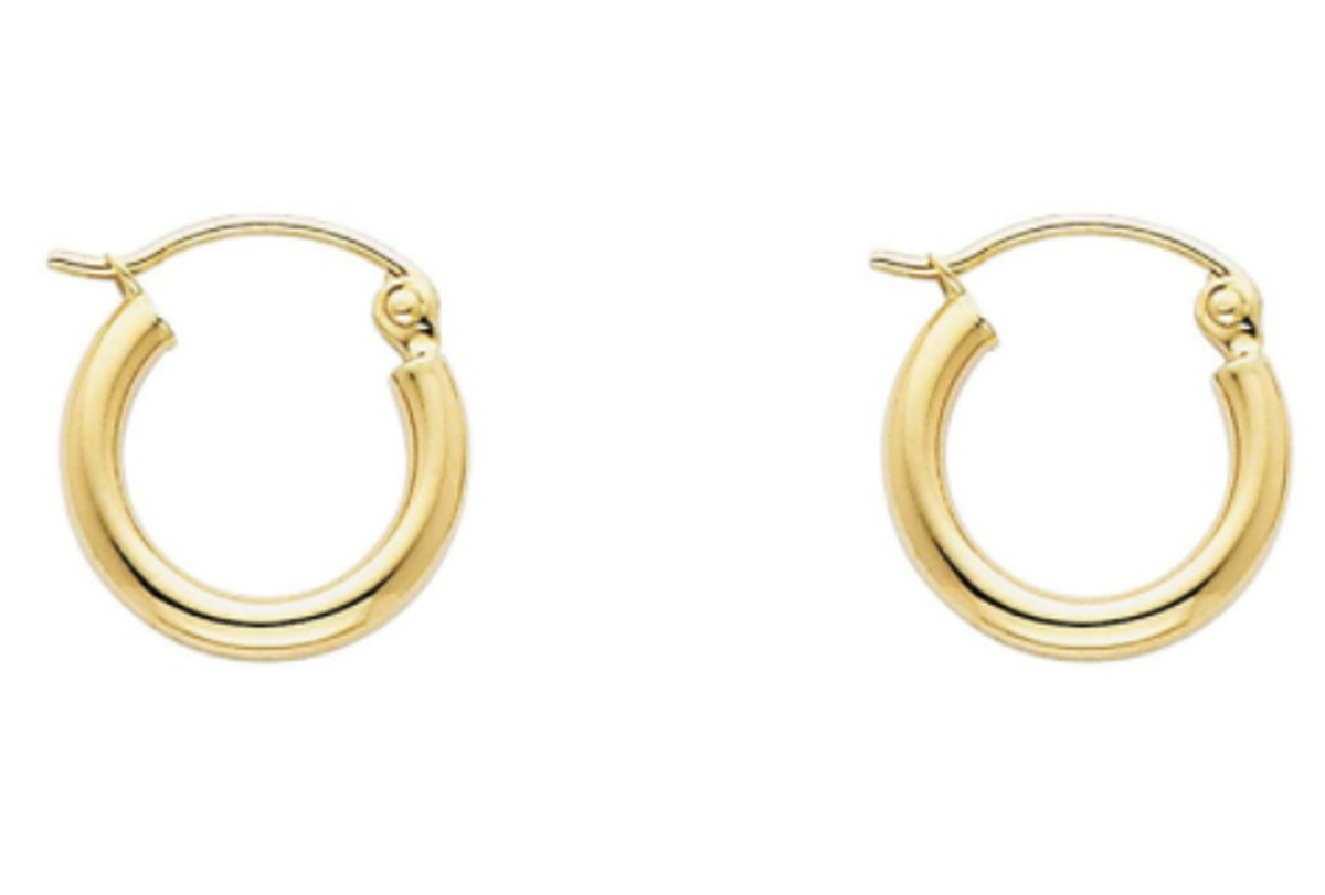 GoldenMine Fine 14k Yellow Gold Hoop Earrings