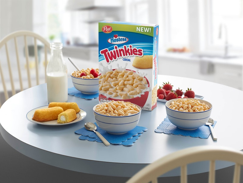 Twinkies Cereal exists thanks to a collaboration between Post and Hostess.