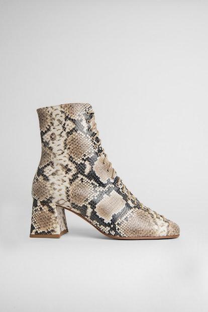 Becca Snake Print Leather