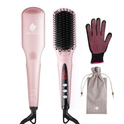 MiroPure Enhanced Hair Straightener Heat Brush