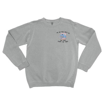 My Oat Milk- Embroidered Unisex Sweatshirt