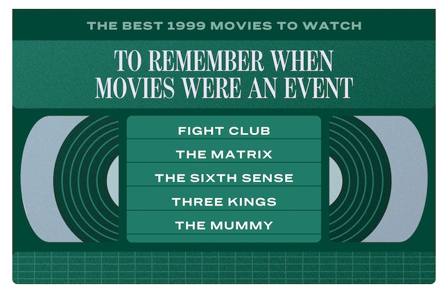 The best 1999 action movies include: 'Fight Club,' 'The Matrix,' 'The Sixth Sense,' 'Three Kings,' 'The Mummy'
