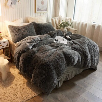 XeGe CHENFENG Plush Shaggy Duvet Cover