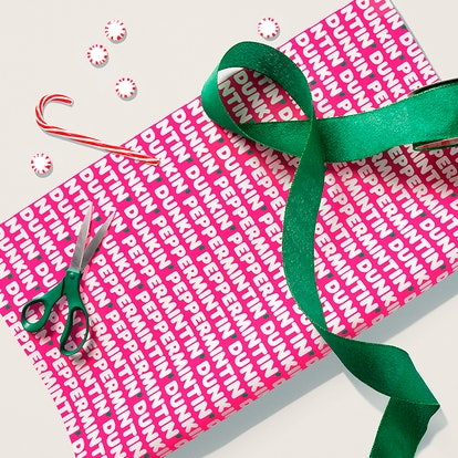 Dunkin' Peppermint Scented Wrappin' Paper