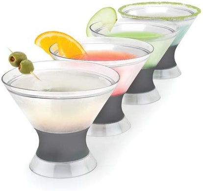 Host Insulated Stemless Martini Glasses