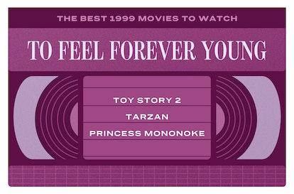 The best 1999 movies for kids are 'Toy Story 2,' 'Tarzan,' 'Princess Mononoke'
