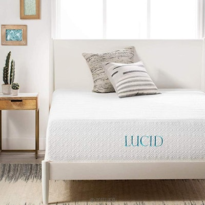 LUCID 14-Inch Bamboo Charcoal-Infused Memory Foam