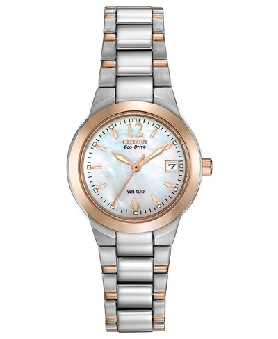 Eco-Drive Chandler Two-Tone Stainless Steel Bracelet Watch 26mm