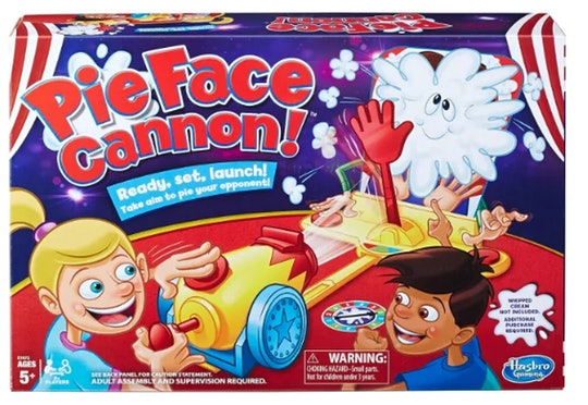 The Pie Face Cannon board game
