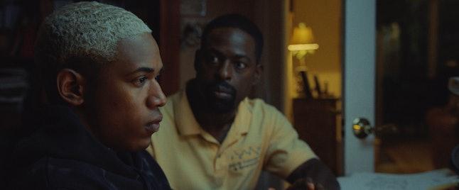 Kelvin Harrison Jr. as Tyler and Sterling K. Brown as Ronald in 'Waves'