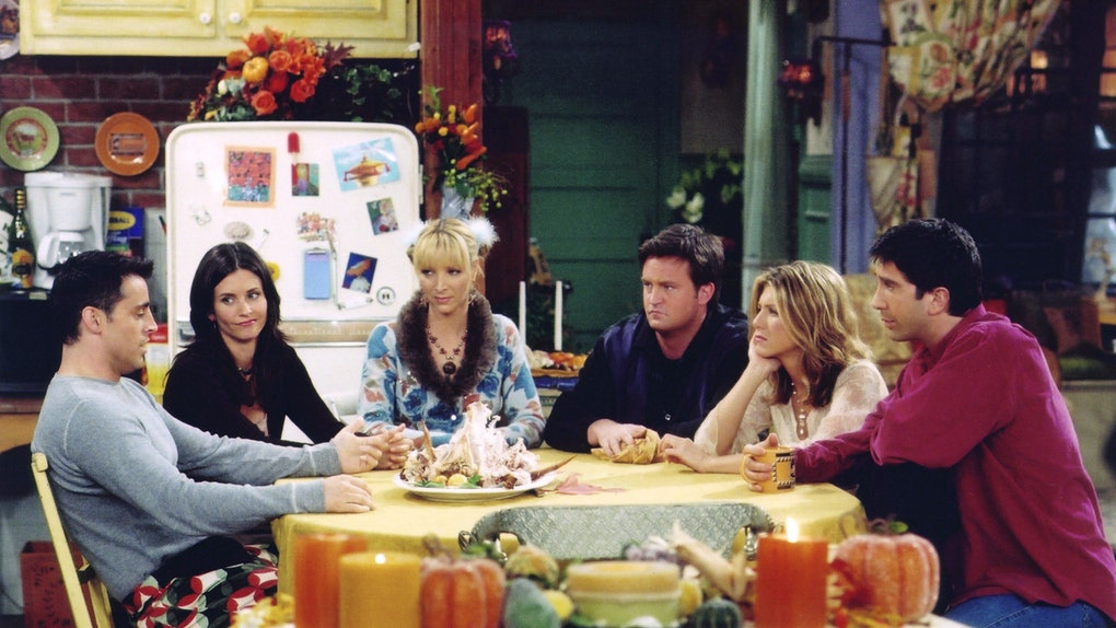 cast of 'Friends' during Thanksgiving episode