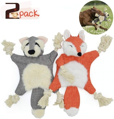 UOLIWO Crinkle Dog Toy (Pack of 2)