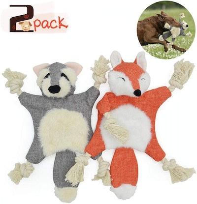 UOLIWO Crinkle Dog Toy (Pack of 2)