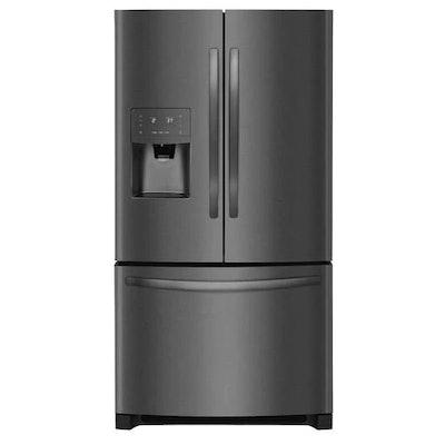 Frigidaire 26.8-cu ft 3-Door Standard-Depth French Door Refrigerators Single Ice Maker (Black Stainless Steel) ENERGY STAR