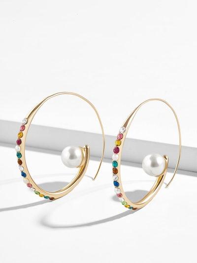 Delisa Pearl Hoop Earrings