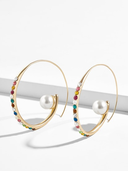 Delisa Pearl Hoop Earrings