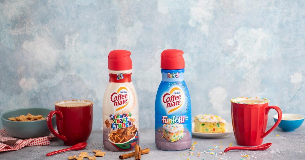Coffee Mate's Cinnamon Toast Crunch & Funfetti Creamers Are Like Dessert In A Cup