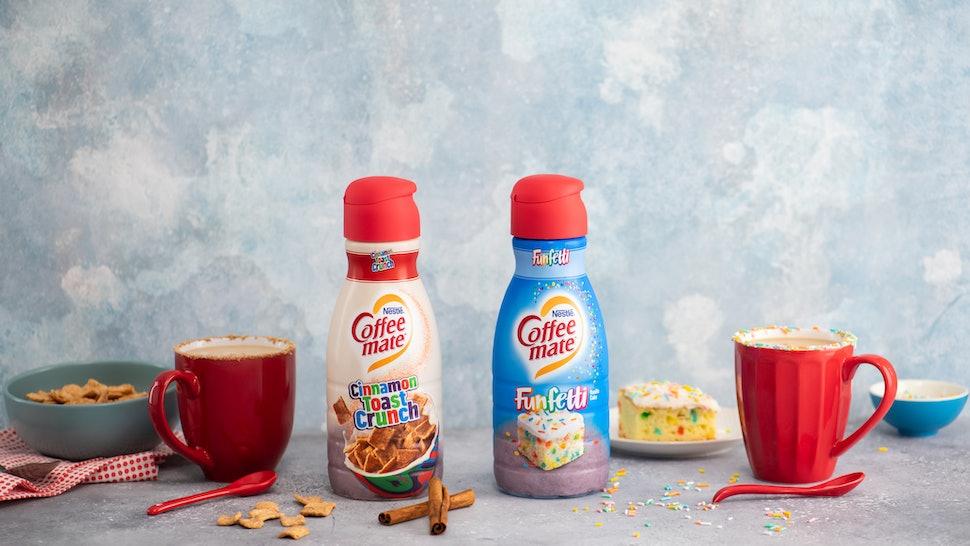 Coffee Mate's Cinnamon Toast Crunch & Funfetti Creamers are coming in 2020.