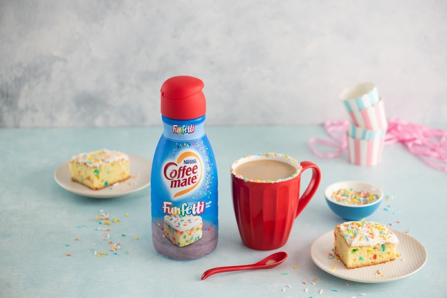 Coffee mate's Funfetti creamer tastes like vanilla and cake batter with a hint of frosting.