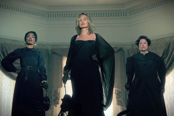 Angela Bassett, Jessica Lange, and Kathy Bates in 'American Horror Story', possibly to be reunited for Season 10