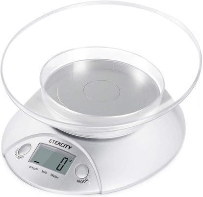 Etekcity Digital Kitchen Food Scale with Removable Bowl