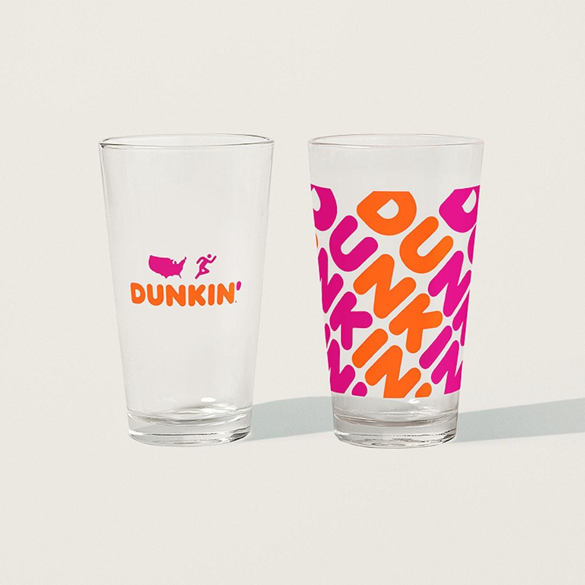 Dunkin' Cheersin' Pint Glasses