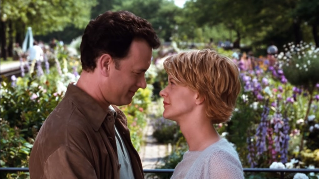 "Tom Hanks and Meg Ryan portray Joe and Kathleen from ""You've Got Mail."""