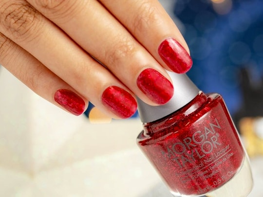 Morgan Taylor's Champagne & Moonbeams nail polish collection features 12 versatile nail polish colors for holiday party manicures.