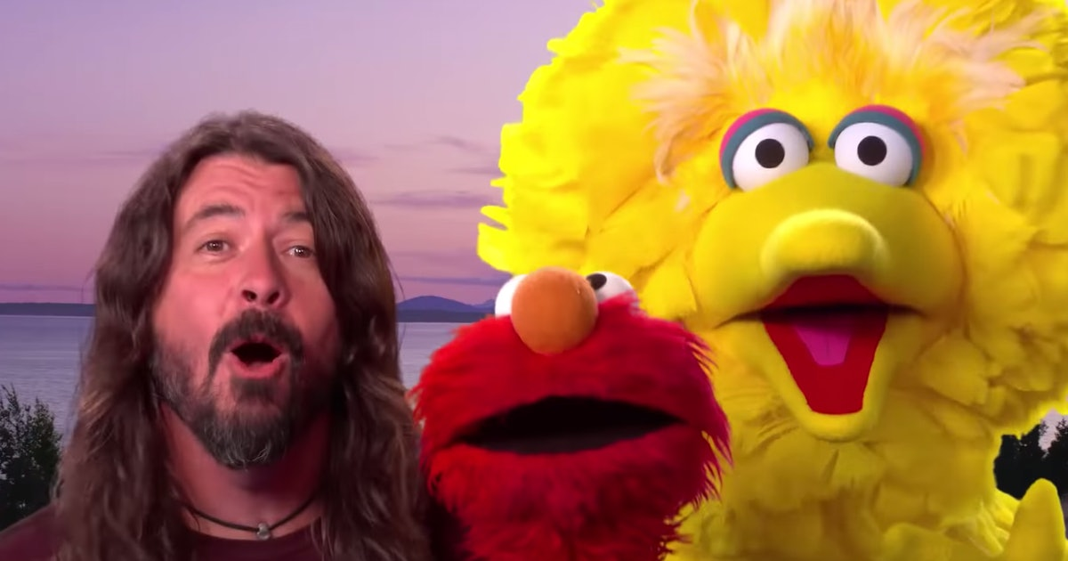 Dave Grohl Singing With Big Bird & Elmo On 'Sesame Street' Is Just So Pure