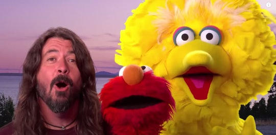 Dave Grohl sang a song with Elmo and Big Bird.