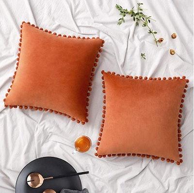 Woaboy Velvet Throw Pillow Covers (2-Pack)