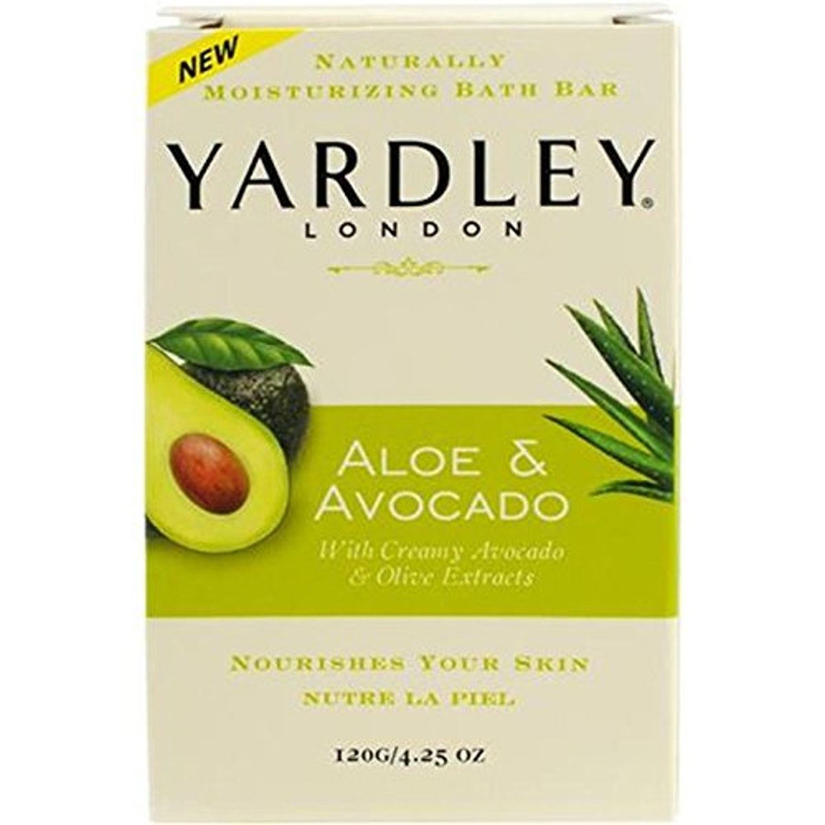 Yardley Aloe & Avocado Moisturizing Bath Bar