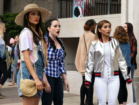 Shay Mitchell, Kat Dennings, and Brenda Song in Dollface