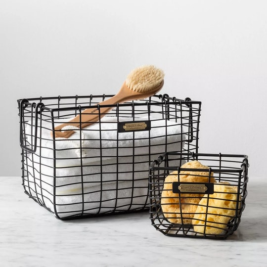 Wire baskets from Target's Magnolia label