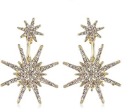 MengPa Star Stud Statement Dangling Earrings