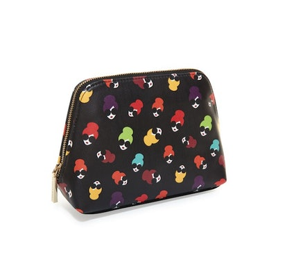 Nikki Printed Cosmetic Case — Rainbow Stace