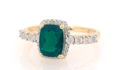 Lab-Created Emerald Ring