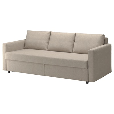 FRIHETEN Sleeper sofa, Hyllie beige