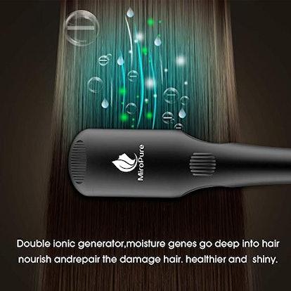 MiroPure 2-in-1 Enhanced Hair Straightener Brush