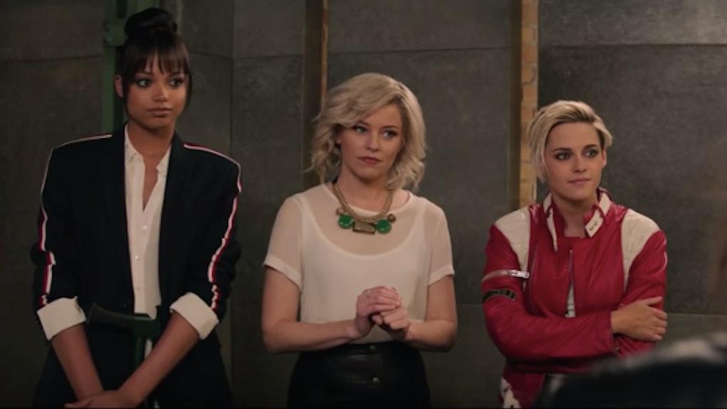 Ella Balinska, Elizabeth Banks, and Kristen Stewart in the 'Charlie's Angels' reboot