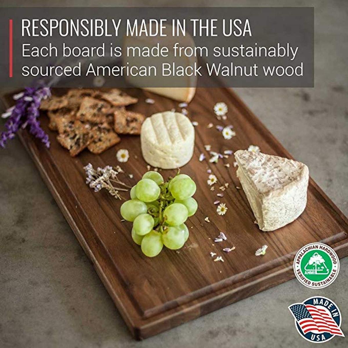 Virginia Boys Kitchens Large Walnut Cutting Board