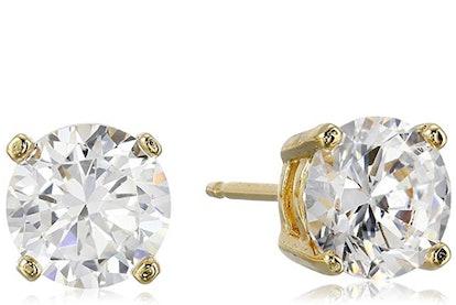AmazonEssentials Cubic Zirconia Stud Earrings