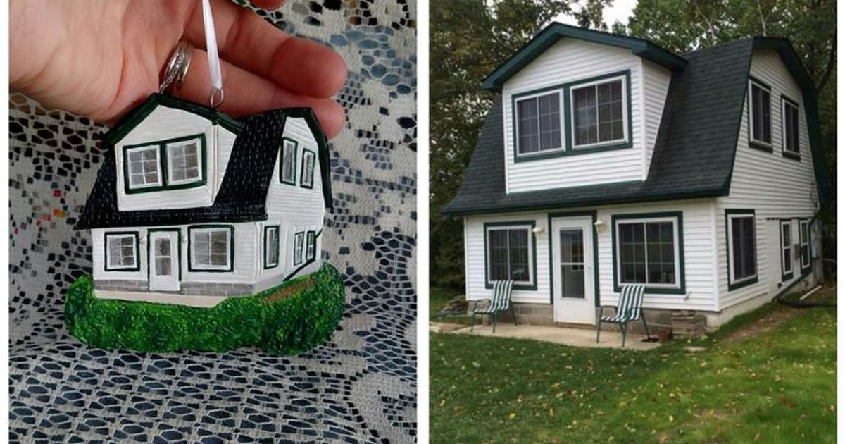 This Handmade Custom House Ornament Is An Exact Replica Of Your Home