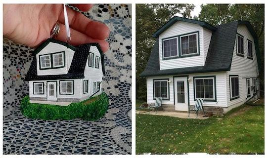 Etsy seller Forever Figurines creates handmade custom house ornaments, wedding cake replicas, and pet figurines