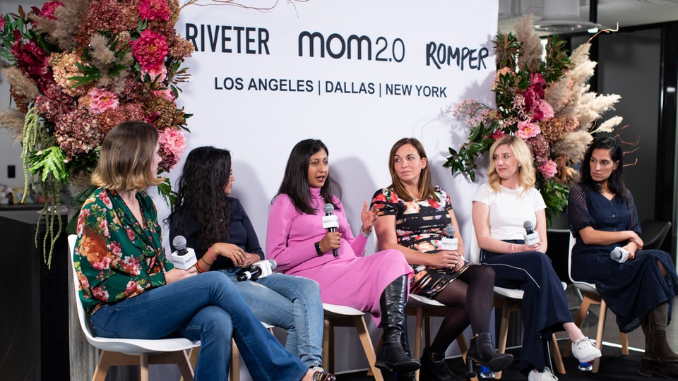 Six women on a panel at a popup at the Bustle Digital Group offices on November 13.